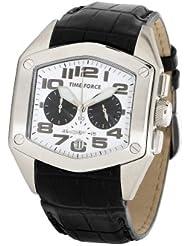 TIME FORCE 81155 - Reloj de Caballero movimiento de cuarzo con correa de piel
