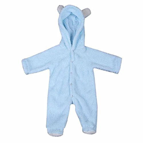 BURFLY Kinderkleidung ♥Baby tier klettern bekleidung strampler overall, kaninchen ohr strampler kapuzen - overall outfits kleidung (80, Hellblau)
