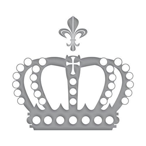 ilber metallic König Königin Aufkleber Tattoo die cut Deko Folie ()