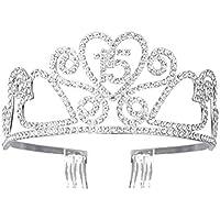 Frcolor Diadema con coronas de la reina diadema de cristal con diamantes de imitación para el