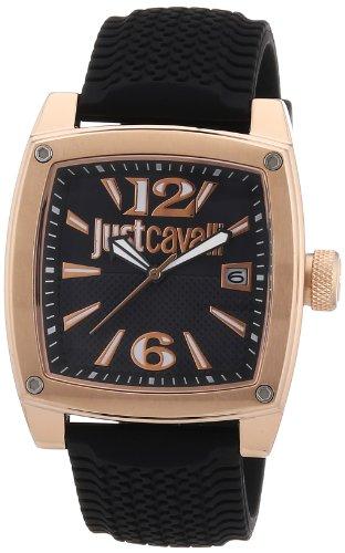 Just Cavalli R7251583001 - Reloj analógico para mujer de caucho Resistente al agua negro