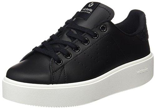 victoria Unisex-Erwachsene Deportivo Piel Sneaker, Weiß Schwarz (Negro)