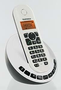 Telefunken TB151 Téléphone sans fil DECT Répondeur Afficheur alphanumérique Identification de l'appelant Horloge / Alarme Blanc
