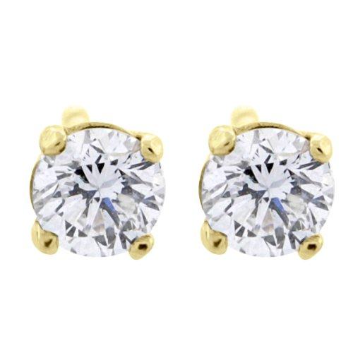 Glitz Design Damen -  14 Kt  Gelbgold round-Brilliant   G-H Weißer Diamant