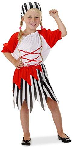 Pirate Girl Kostüm inklusive Rock, Pullover und Kopftuch für Mädchen