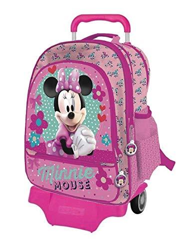 Minnie zaino trolley scolastico grande con zaino staccabile