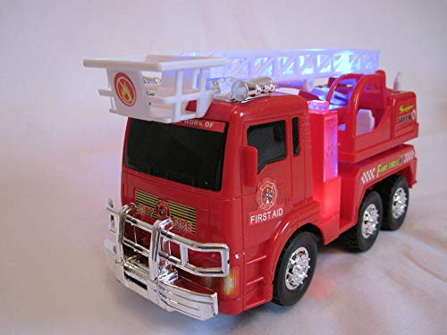 Batteria camion dei pompieri con effetti sonori e led selb stfa hrend giocattolo vigili del fuoco auto