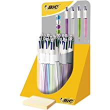 BIC 4 Colours Shine Ballpoint Pens with EAN-13 Barcodes Pack of 20 Black / Blue / Red / Green