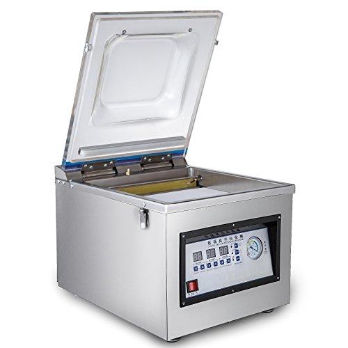 Mophorn Vakuumierer Maschine Edelstahl Beutel Sealer 320 MM / 12,6 ZOLL Vakuumierer Beutel für Heim und Gewerbe (DZ-260C)