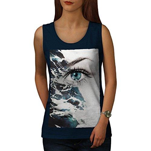 Auge Stilvoll Drucken Mode Ozean Welle Damen S-2XL Muskelshirt | Wellcoda Marine