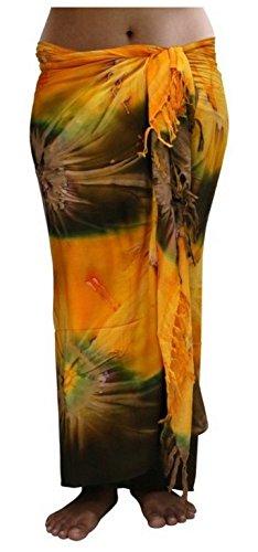 ca.100 Modelle im Shop Sarong Strandtuch Pareo Wickelrock orange braun Sar46