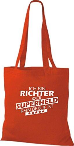 Tote Bag Shirtstown Sono Giudice Perché Il Supereroe Di Nessuna Professione È Rosso