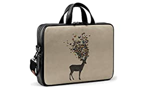 DailyObjects Wild Nature City Compact Messenger Bag for Up to 15.5 Inch Laptop/MacBook Color-Multicolor