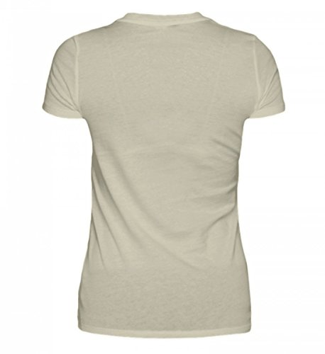 Shirtee Hochwertiges Damen Organic Shirt - Kind der Küste Beige
