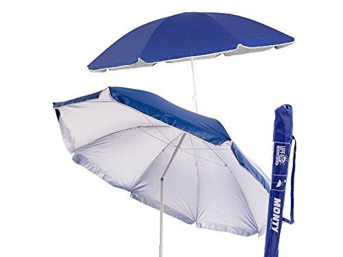 Sombrilla de playa plegable azul de nylon de 220...