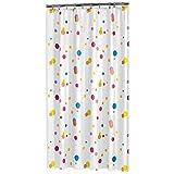 Sealskin Textil Duschvorhang Dots, Mehrfarbig, B x H: 180 x 200 cm