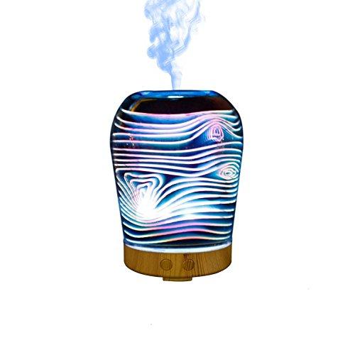 Preisvergleich Produktbild CFZHANG Luftbefeuchter kreative Aroma Glas 3D Mechanische Bunte Lichter Geschenke