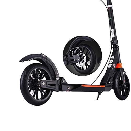 Kickscooter Faltbarer Tretroller für Erwachsene Teens, Pendler Roller Mit 2 Großen Rädern Aluminiumlegierung Fram Dual Suspension, Unterstützung 150KG