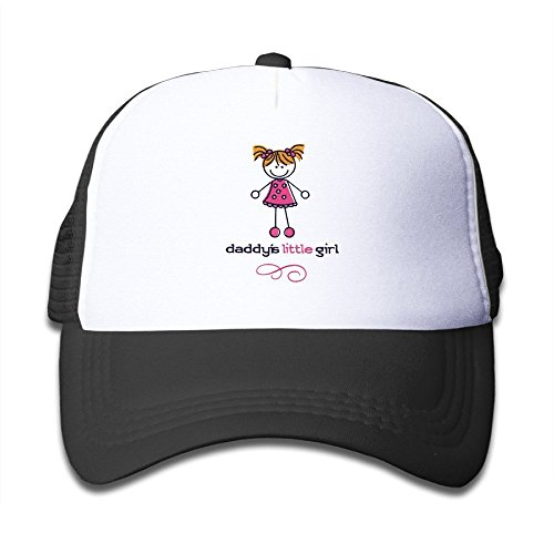 Kids Daddy's Little Girl Trucker Hats,Youth Mesh Caps,Snapback Baseball Cap Hat (Daddys Little Baseball)