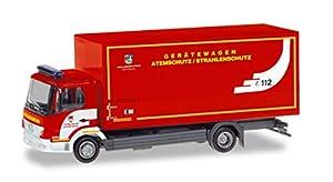 Herpa 094580 Mercedes-Benz Atego - Maletín de Bomberos con protección respiratoria para Camiones en Miniatura para Manualidades y coleccionar