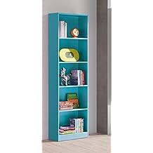 libreria o estanteria azul para habitacin infantil juvenil o estudio xxcm