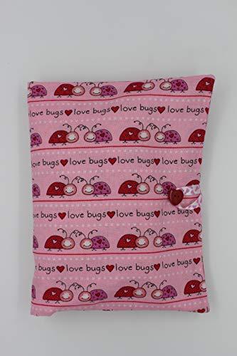 pochette couches et lingettes/pochette à langer nomade/pochette à couches et lingettes/cadeau naissance bébé/coccinelles/unique fait main/coton