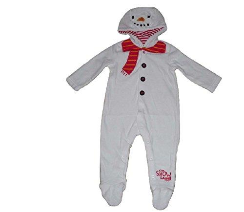 Baby Jungen Mädchen Einteiler Schlafanzug Baby Strampelanzug ALLE Inn Ein Schlafanzug Schneemann Weihnachten - 3-6 Monate