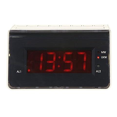 Radiowecker RW 211 Uhrenradio Sleeptimer digitale Frequenzanzeige Radio und Buzzer