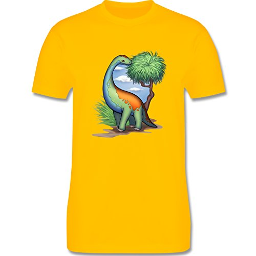 Sonstige Tiere - Dino - Langhals - Herren Premium T-Shirt Gelb