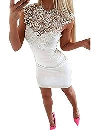 2b500cd22d3d Amazon.it  vestiti da sera - Bianco   Vestiti   Donna  Abbigliamento