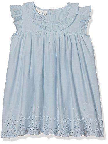 NAME IT Baby-Mädchen Kleid NBFFALALLA CAPSL Dress, Blau (Cashmere Blue), 86