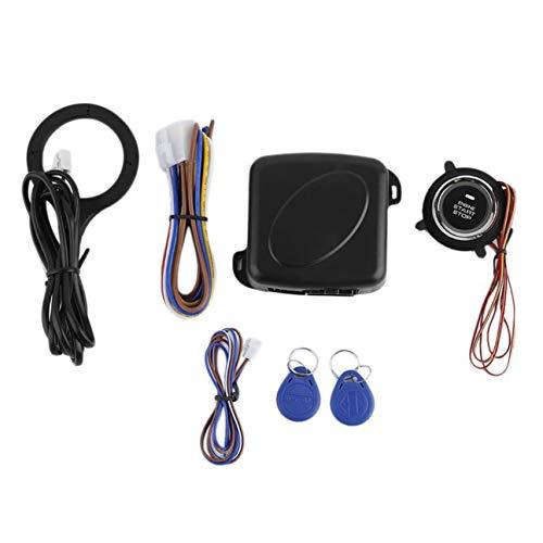 Système de démarrage de voiture intelligente Bouton de démarrage du moteur Verrouillage du moteur Allumage Démarreur Système sans clé Système de bouton-poussoir Aller Sécurité Noir