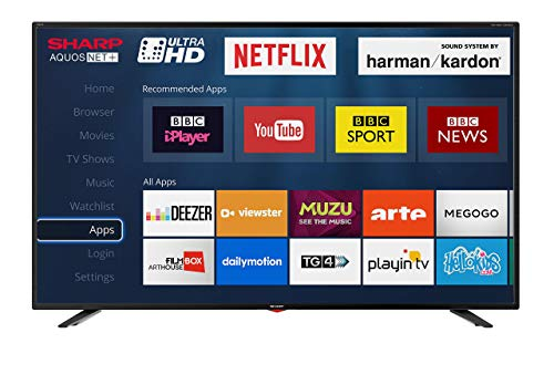 Sharp LC-40UI7352K 4K Ultra HD Smart 40-inch TV with Freeview HD (2018 model), Black (Renewed)