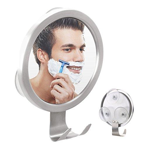 GlobaLink® Beschlagfeier Duschspiegel Antibeschlag Rasierspiegel Badspiegel mit Haken und Einstellbarer Wandspiegel mit starkem Saugnapf, Kosmetikspiegel Wandspiegel Schminkspiegel für Badezimmer, Duschen, Schminken usw.