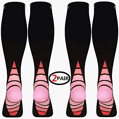 Calcetines/Medias de compresión para Hombres y Mujeres, (2 Pares)