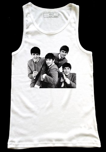 Beatles, motivo: Fab Four, Gilet da uomo Medium