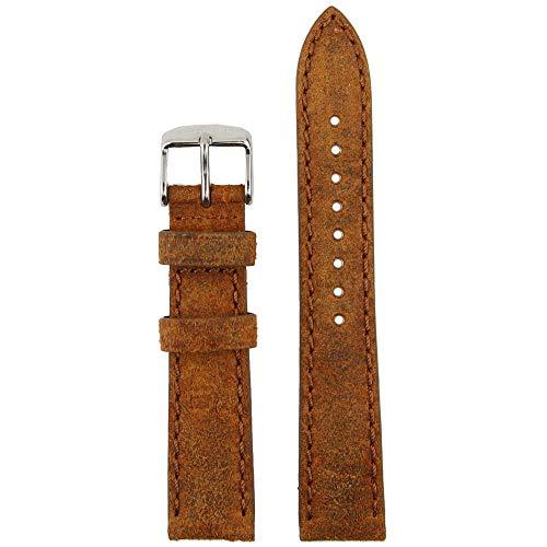 Kapten & Son Uhrenarmband Vintage Leather Braun Wechselarmband Uhrenband Edelstahl 20 mm