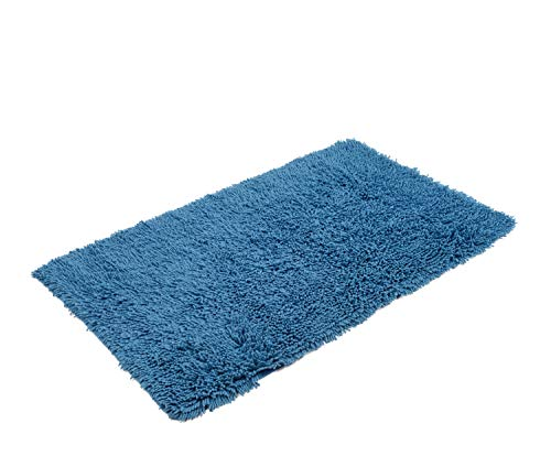 Gözze, tappeto di lana, blu (fjord), 60x100cm