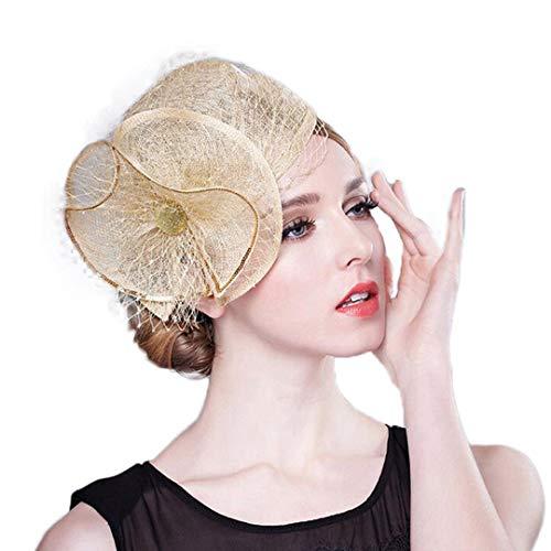(OLADO Fascinator Sinamay Royal Hüte für Damen, die formelle Partei-Kirche Derby Cocktail Pillbox-Hut Wedding sind)