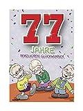 Depesche 5598.098 Glückwunschkarte mit Motiv von Archie, 77. Geburtstag, Mehrfarbig
