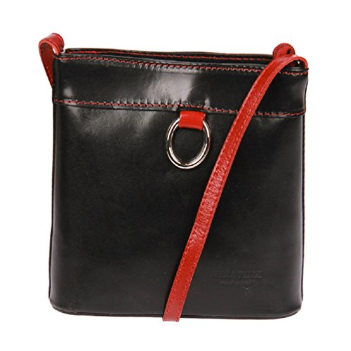 Kossberg, Borsa a tracolla donna marrone black / red black / red