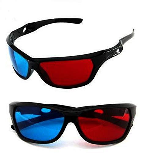 LMJ Outsider 3D Brille, Zwei beladene sportbrillen Herren rot und blau pc3d Brille großhandel 3D Augen