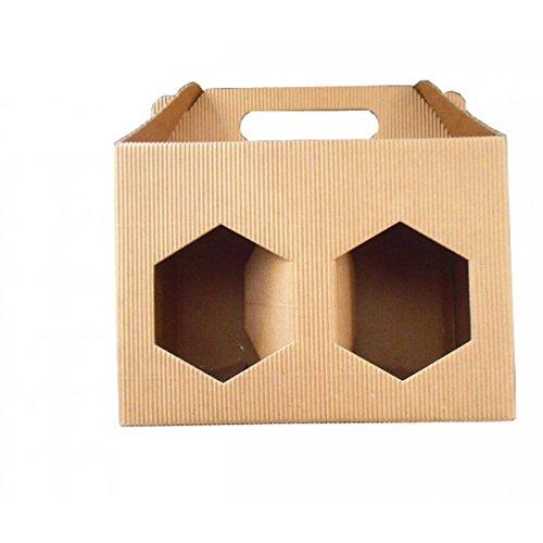 SCATOLA ASTUCCIO di cartone per 2 vasi miele da 500 g (marrone) - Conf. da 5 pezzi