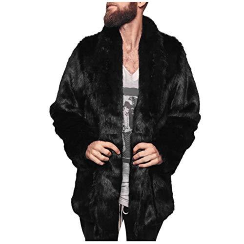 Felicove Herren Warme Jacke Winter Dicke Mantel Jacke Kunstpelz Parka Outwear Strickjacke Übergröße Mantel -