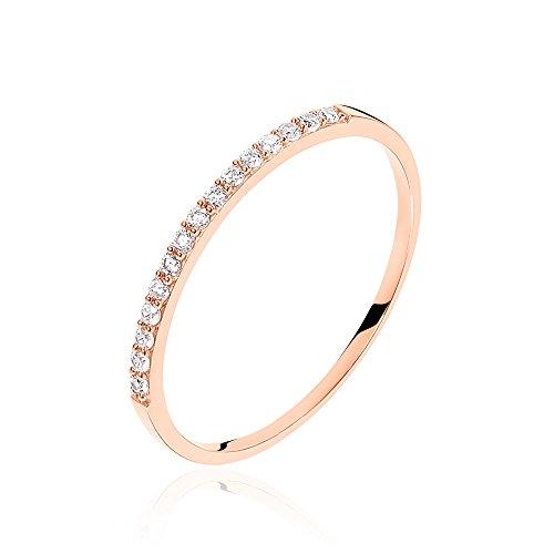 You.Me.We. - Feiner Allianz-Ring aus Roségold mit Oxid - Damenschmuck - ringgröße 52 (Klassiker Juwelen)