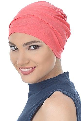 Coton Bonnet Essentielle Pour Perte De Cheveux, Cancer, Chimio Brique Rose