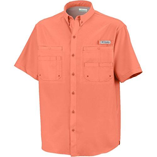 Tamiami Angeln Shirt (Columbia Herren TAMIAMI Short Sleeve Angeln Shirt Small BrightPeach)