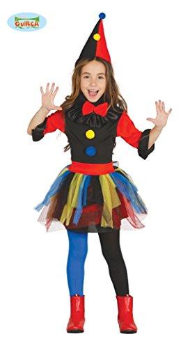 Clown Mörderin Kostüm für Mädchen Halloween Killer Mörder Kinder bunt Gr. S-M, Größe:110/116