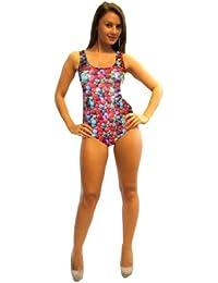 Candy Print Swimsuit Bodysuit Leotard
