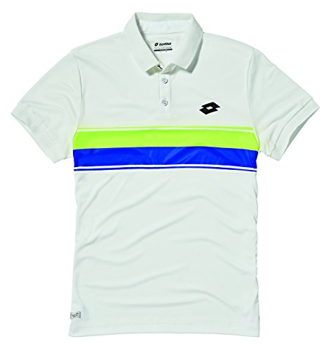 lotto-sport-court-polo-para-hombre-hombre-court-bianco-giallo-fluo-l